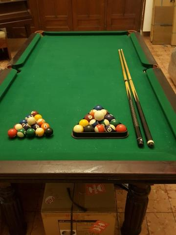Meja Billiard Full Table + Stick + Ball + Chalk