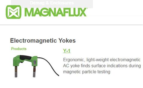 Ndt magnetic particle inspection,electromagnetic yokes y1