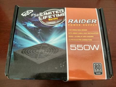 Power Supply PSU FSP Raider 550W 80+ Silver seken Bandung