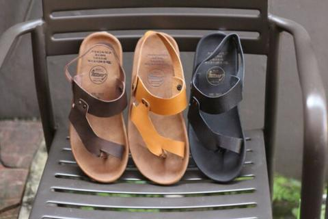 sandal casual pria kulit cevamy riot