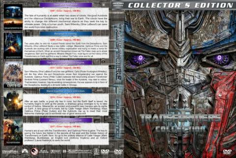 transformers 5 dvd movie collection boxset