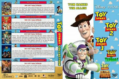toy story 5 dvd movie collection boxset