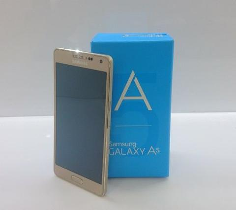 Second Samsung A5 2015 Gold Single Sim EX SEIN Full Set Mulus