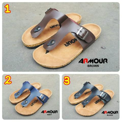 sandal kasual pria armour original product