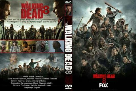 walking dead session 8 . dvd movie collection boxset