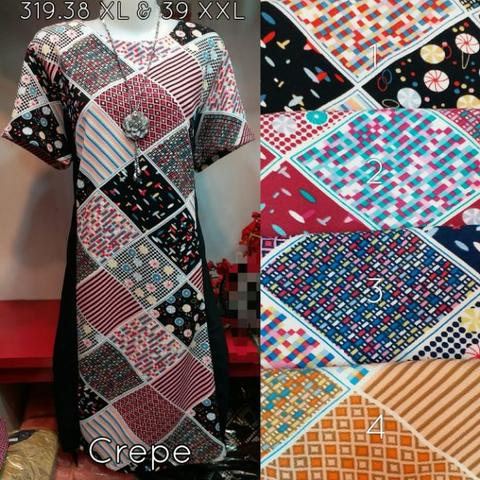 Baju Dress Crepe 319.39 XXL Import Murah