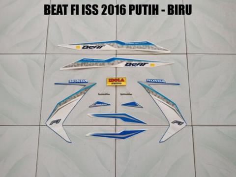 Striping Beat FI ISS 2016 Putih - Biru