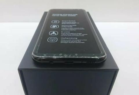 Second Samsung S8 Plus 4/64 Black Full Set Like New Grs sd Oct 2018