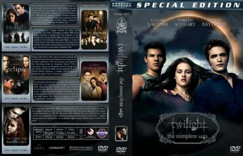 twilight 5 dvd movie collection boxset