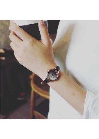 Women Fashion Simple Mini Watches Alloy Casual Circle Sweet