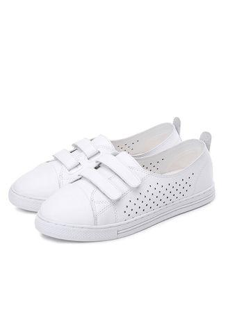 2018 summer new hollow flat shoes white shoes