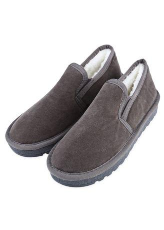 Casual Pure Color Round Toe Slip On Ladies Warm Cotton-Padded Shoes