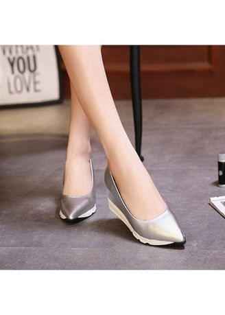Chinese Slip On Natural Linen Pumps Slope Heel Retro Soft Shoes