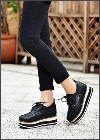 Fashion Wild Korean Version Of The Platform Shoes Women Bullock Shoes