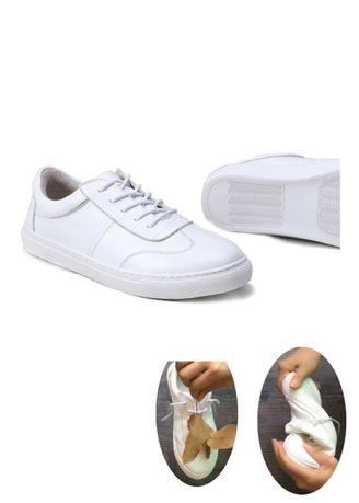 Genuine Leather Sneaker White Casual Shoes