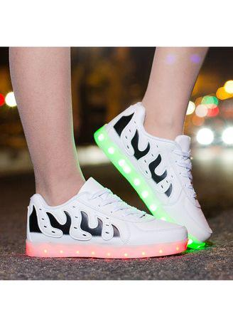 Glowing sneakers unisex Usb Charged Flash of light up shoes