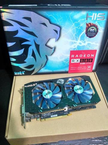 HIS RX 580 IceQ X2 OC 8GB 256BIT DDR5 Garansi ON