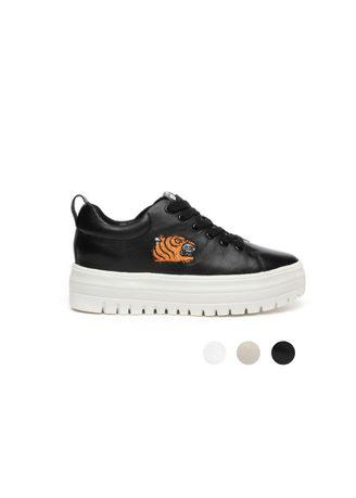 Lady Genuine Leather Sneaker Embroidery Casual Shoes