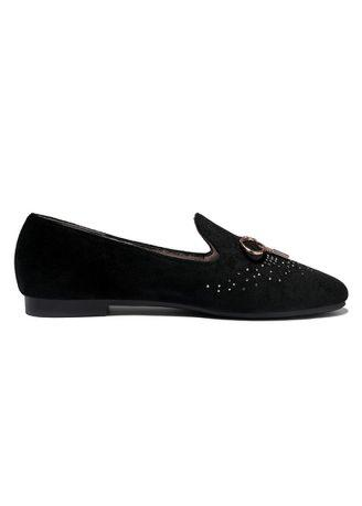 Moolecole Bow round single shoes flat shoes