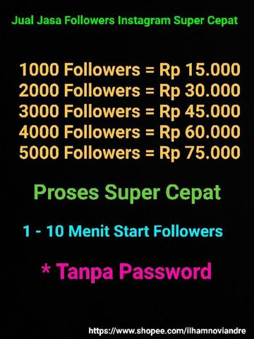 Jual Jasa Followers Instagram Super Murah