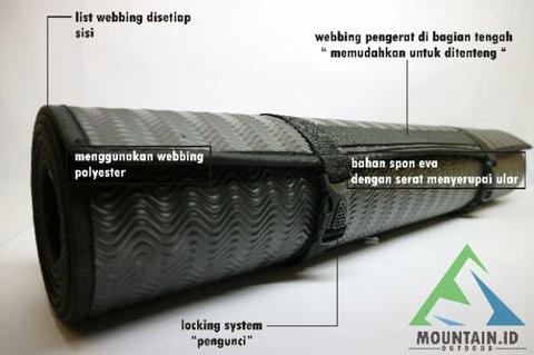 matras hitam matras cacing matras yoga matras spon alas tidur outdoor hiking camping