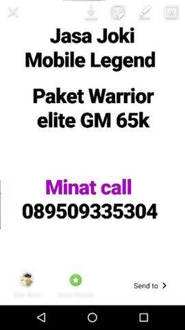 Paket Joki Mobile Legend