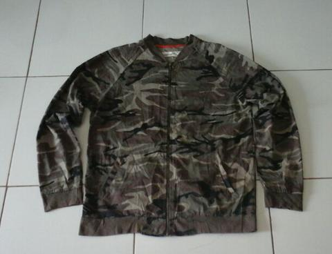 jaket loreng army camo military bahan canvas
