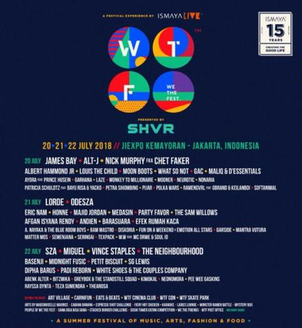 Tiket We The Fest (WTF) 2018