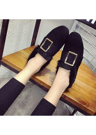 Women Anti-Skid Pedal Comfort Plus Velvet Warm Shoes