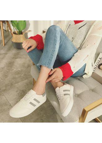 Women's Leather Casual Lace Up Sneakers