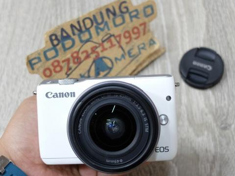 Jual CANON Eos M10 Black dgn 15-45 is STM 'WHITE'- BANDUNG