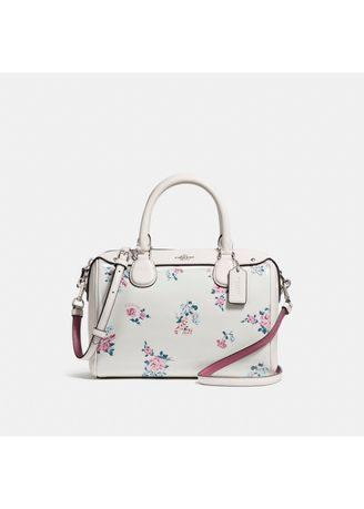 COACH - Mini Bennett Satchel White Floral