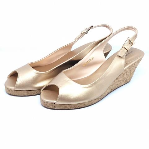 Antonio Wedges Shoes Gold Second