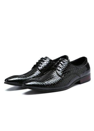 Classic Mens Crocodile Pattern Leather Shoes