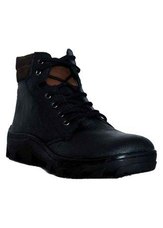 D-Island Shoes Boots Trekking Full Black Genuine Leather