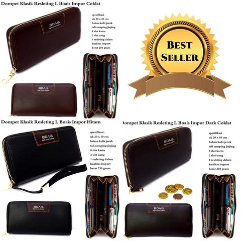 Dompet resleting style L boais import