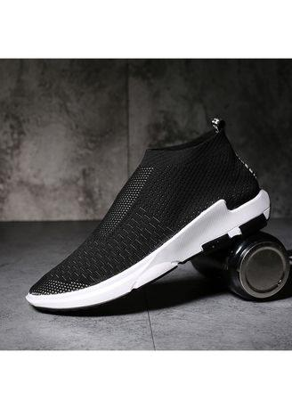 Fashion knit men's shoes sports breathable large size