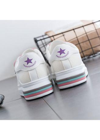 Fashion Lady Velcro Canvas Shoes