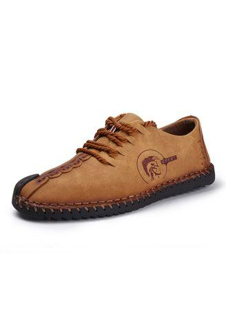 Genuine Leather Men's Fashion casual shoes