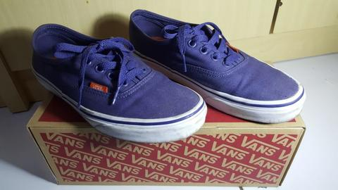 Jual Vans Authentic (Pop Canvas) Crown Blue Bandung BDG Nego (second)