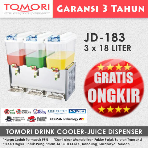 Juice Dispenser/ Jus Dispenser TOMORI TJD-183