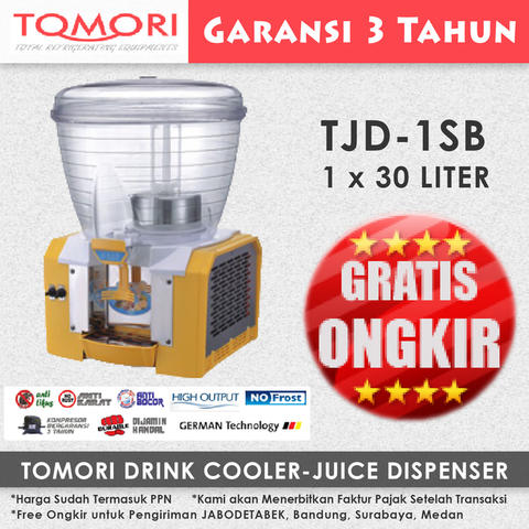 Juice Dispenser/ Jus Dispenser TOMORI TJD-1SB (1x30 Liter)