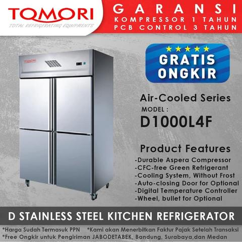 Kulkas D Stainless Steel Kitchen Refrigerator D1000L4F TOMORI