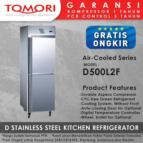 Kulkas D Stainless Steel Kitchen Refrigerator D500L2F TOMORI