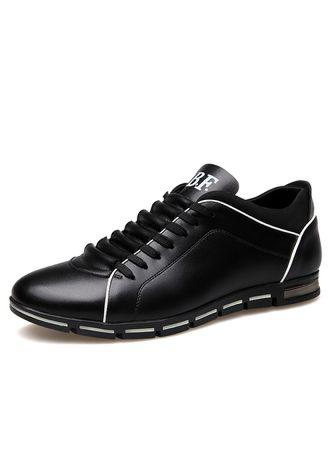 Leather Lace Up Men Shoes 2018 new brand fashion shoes