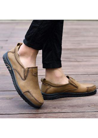 Loafers Casual Genuine Leather shoes men