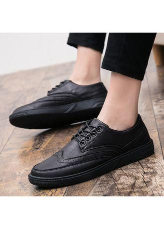 Men 's Bullock shoes Leather Casual Shoes