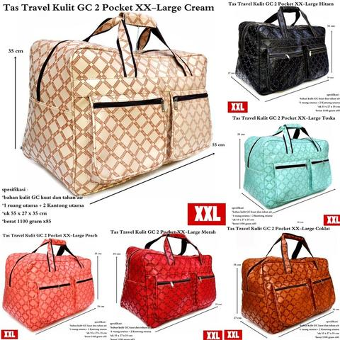 Obral tas travel kulit GC 2 pocket XX – large
