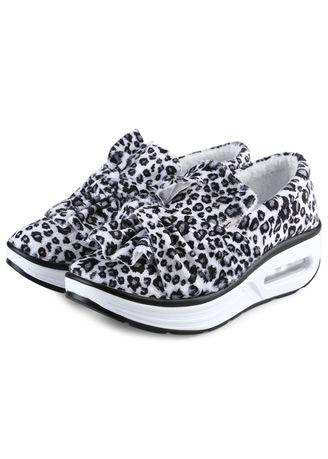 Stylish Leopard Slip On Warm Ladies Platform Shoes