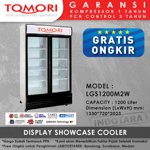 Tomori Display/Showcase Cooler LGS1200M2W
